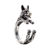 German Shepherd Wrap-Around Hug Ring