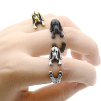 Basset Hound Wrap-Around Hug Ring