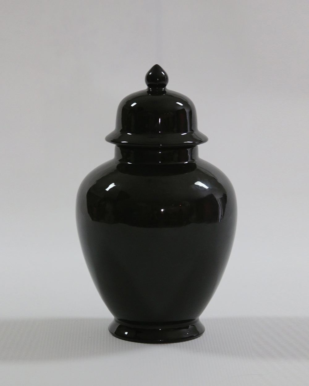 Hancrafted Ceramic Urn - Black - Large