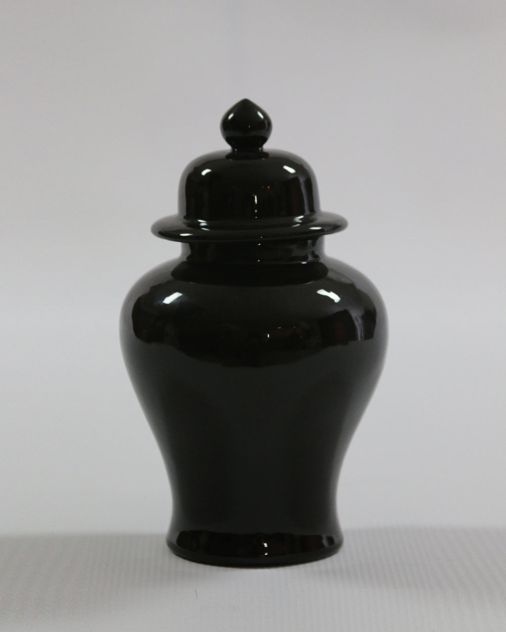 Hancrafted Ceramic Urn - Black - Small