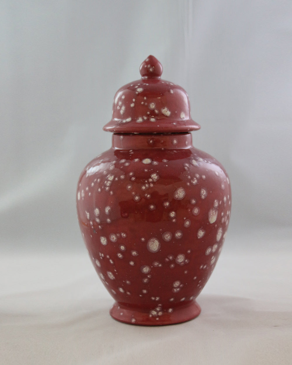Hancrafted Ceramic Urn - Cranberry - Large