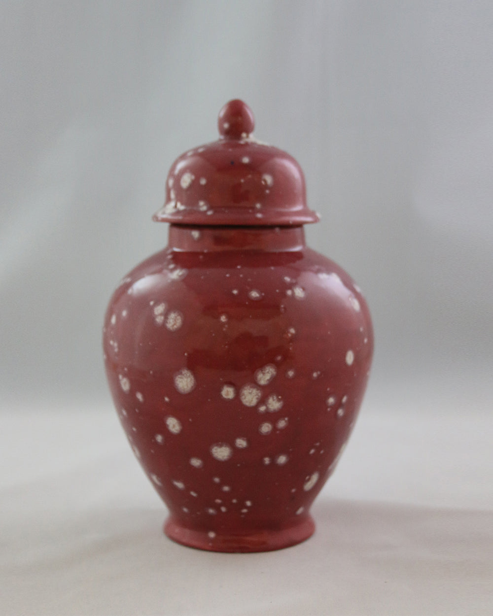Hancrafted Ceramic Urn - Cranberry - Medium