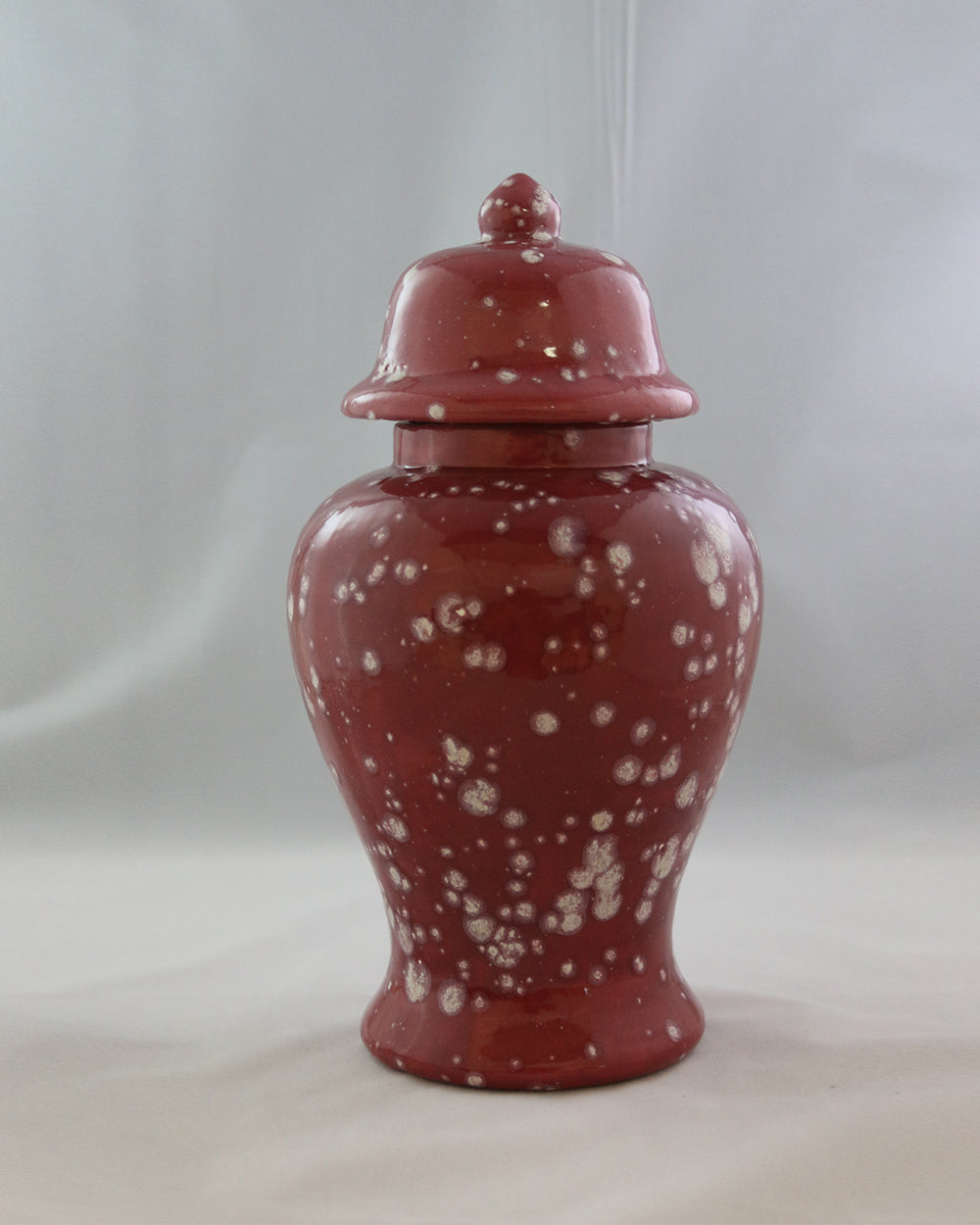 Hancrafted Ceramic Urn - Cranberry - XLarge
