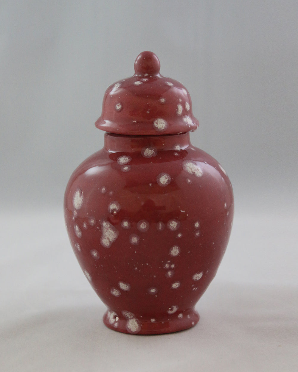 Hancrafted Ceramic Urn - Cranberry - XSmall