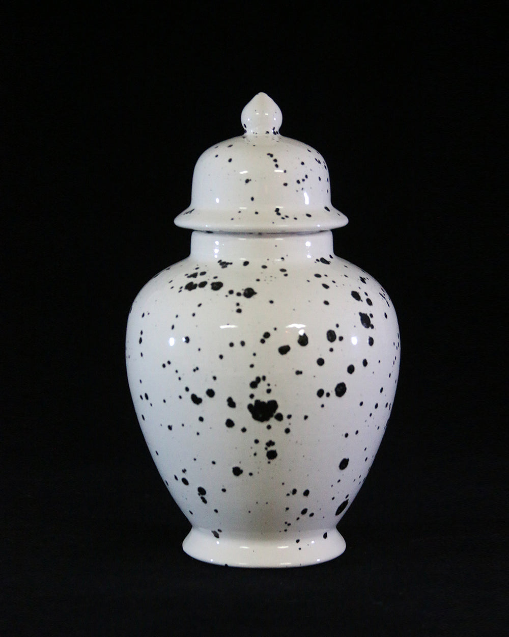 Hancrafted Ceramic Urn - Ink Spots - Large