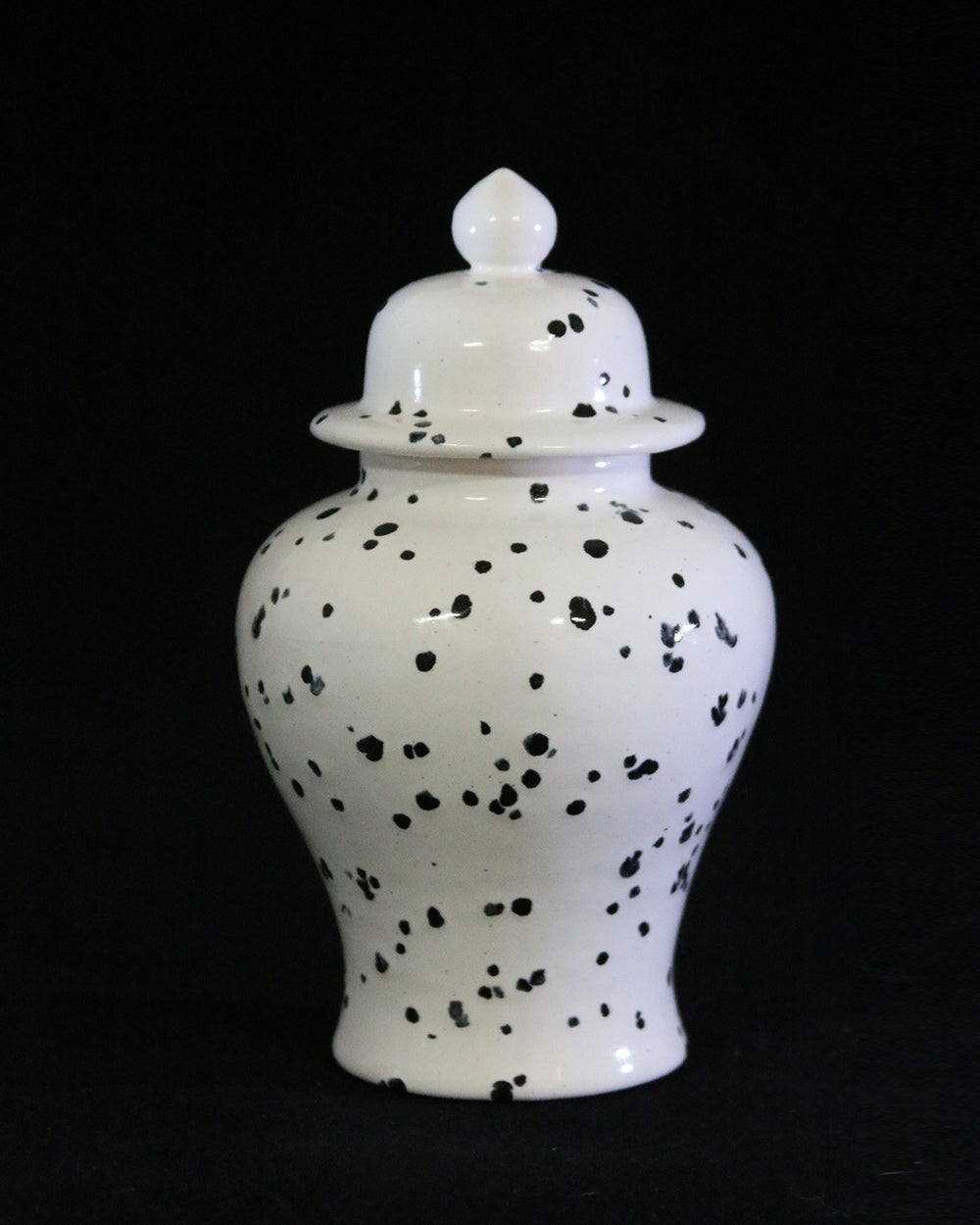 Hancrafted Ceramic Urn - Ink Spots - Small
