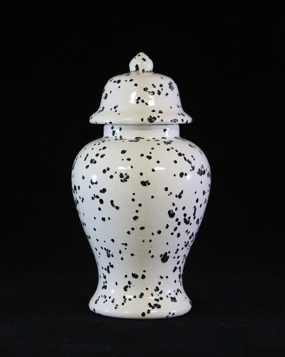 Hancrafted Ceramic Urn - Ink Spots - XLarge