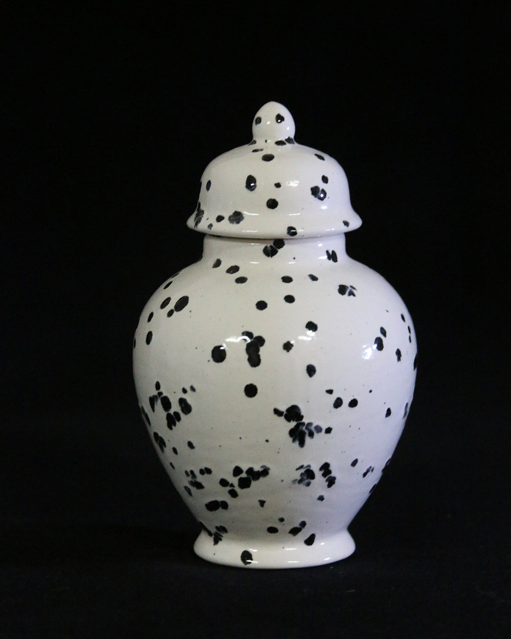 Hancrafted Ceramic Urn - Ink Spots - XSmall