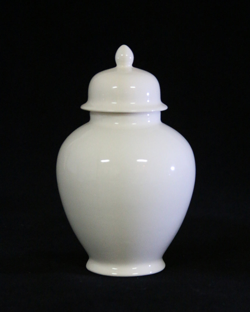 Hancrafted Ceramic Urn - Ivory - Medium