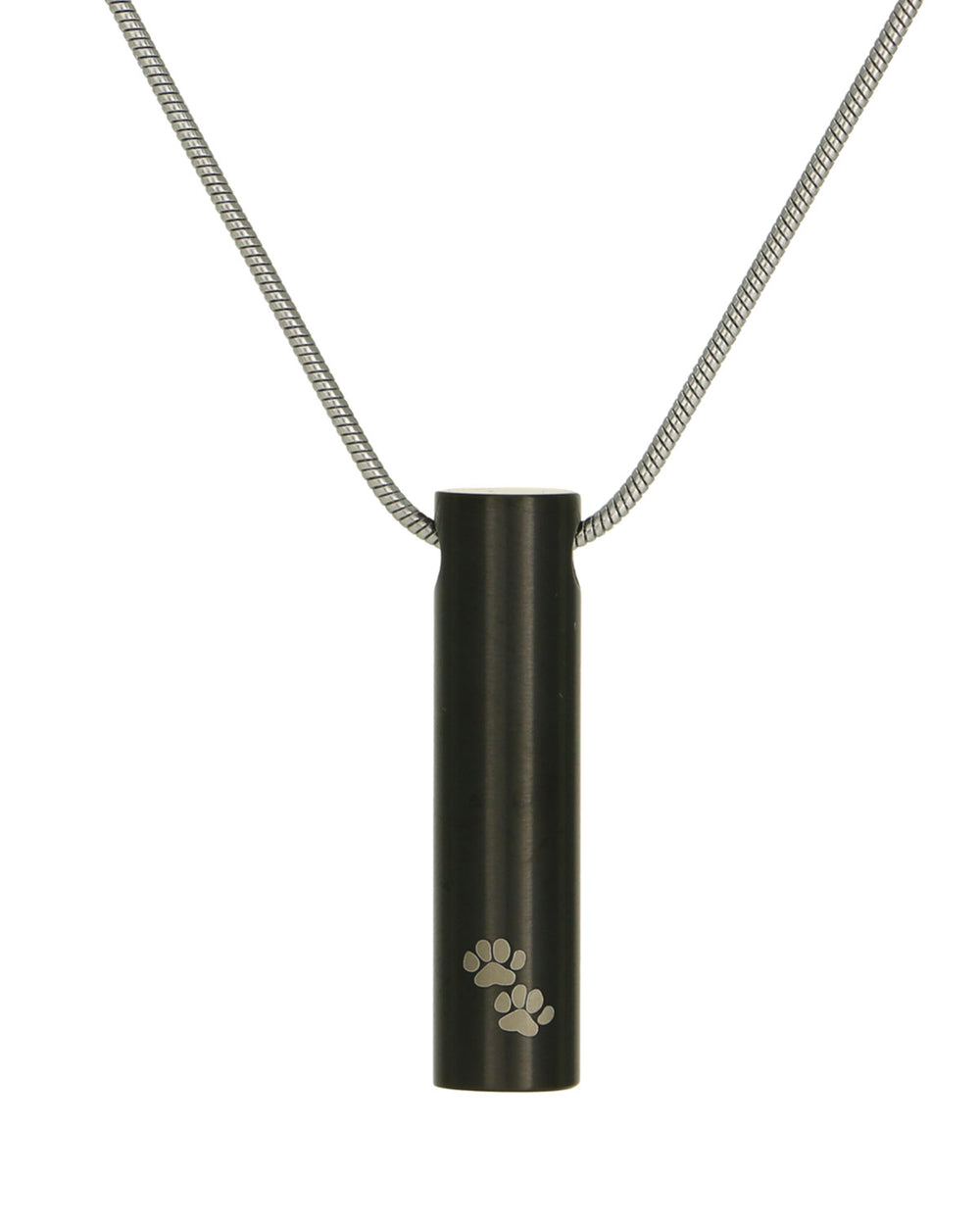 Cylinder Jewelry Pendant - Onyx with Paws