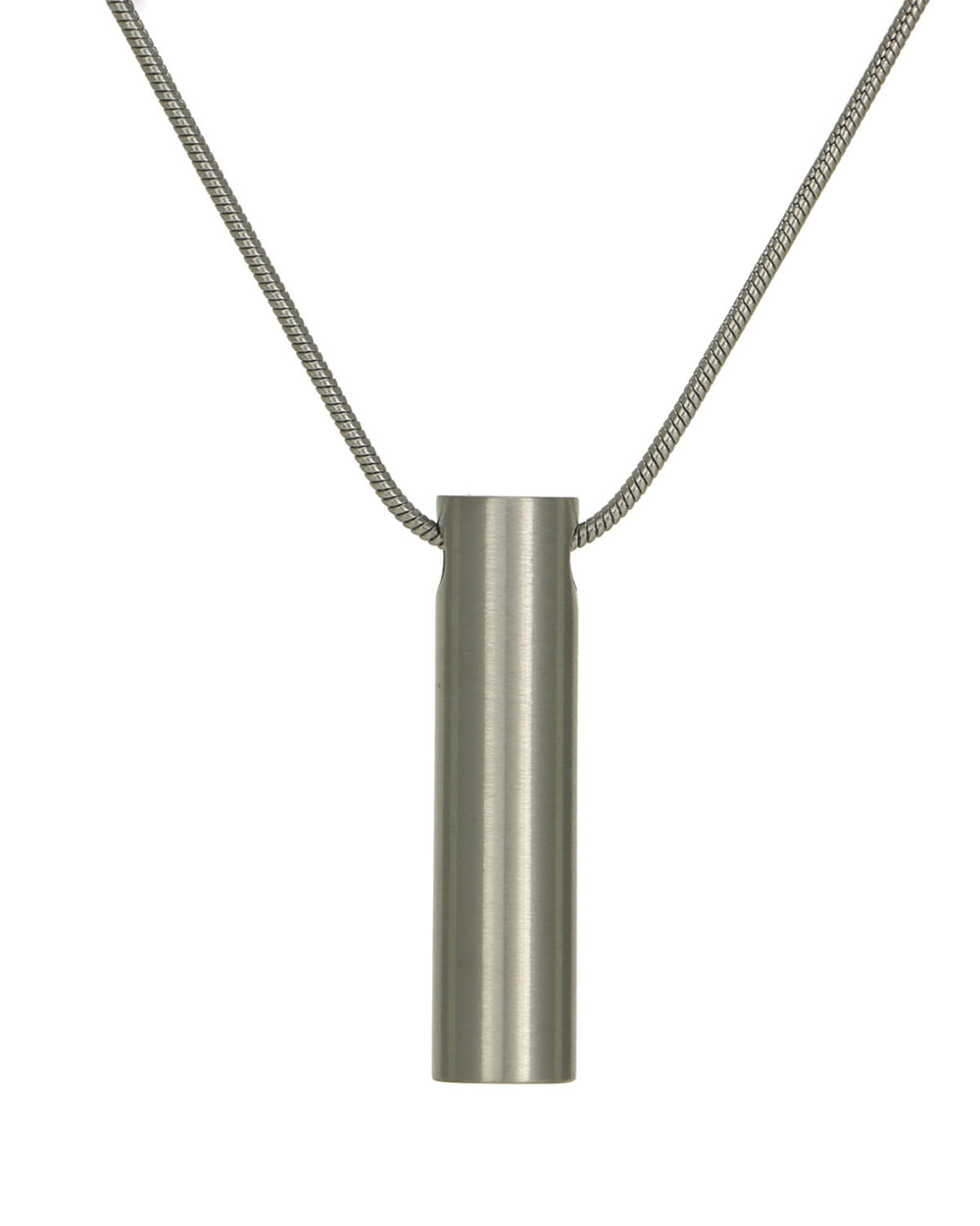 Cylinder Jewelry Pendant - Pewter