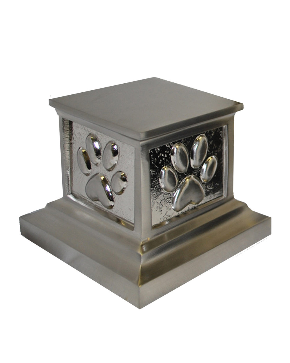 Roman Paws Urn - Brushed Nickel
