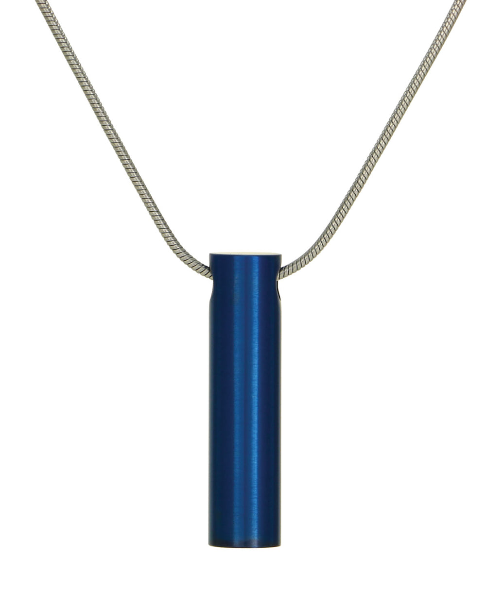 Cylinder Jewelry Pendant - Blue