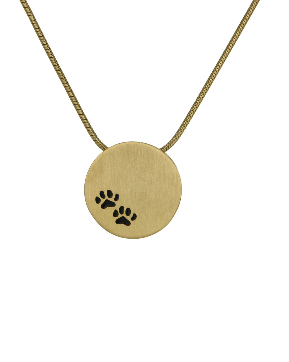 Disk Pendants - Bronze - Paw Prints