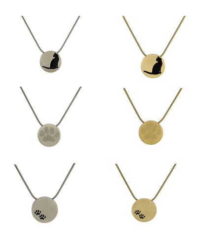 Disk Pendants - Bronze or Pewter