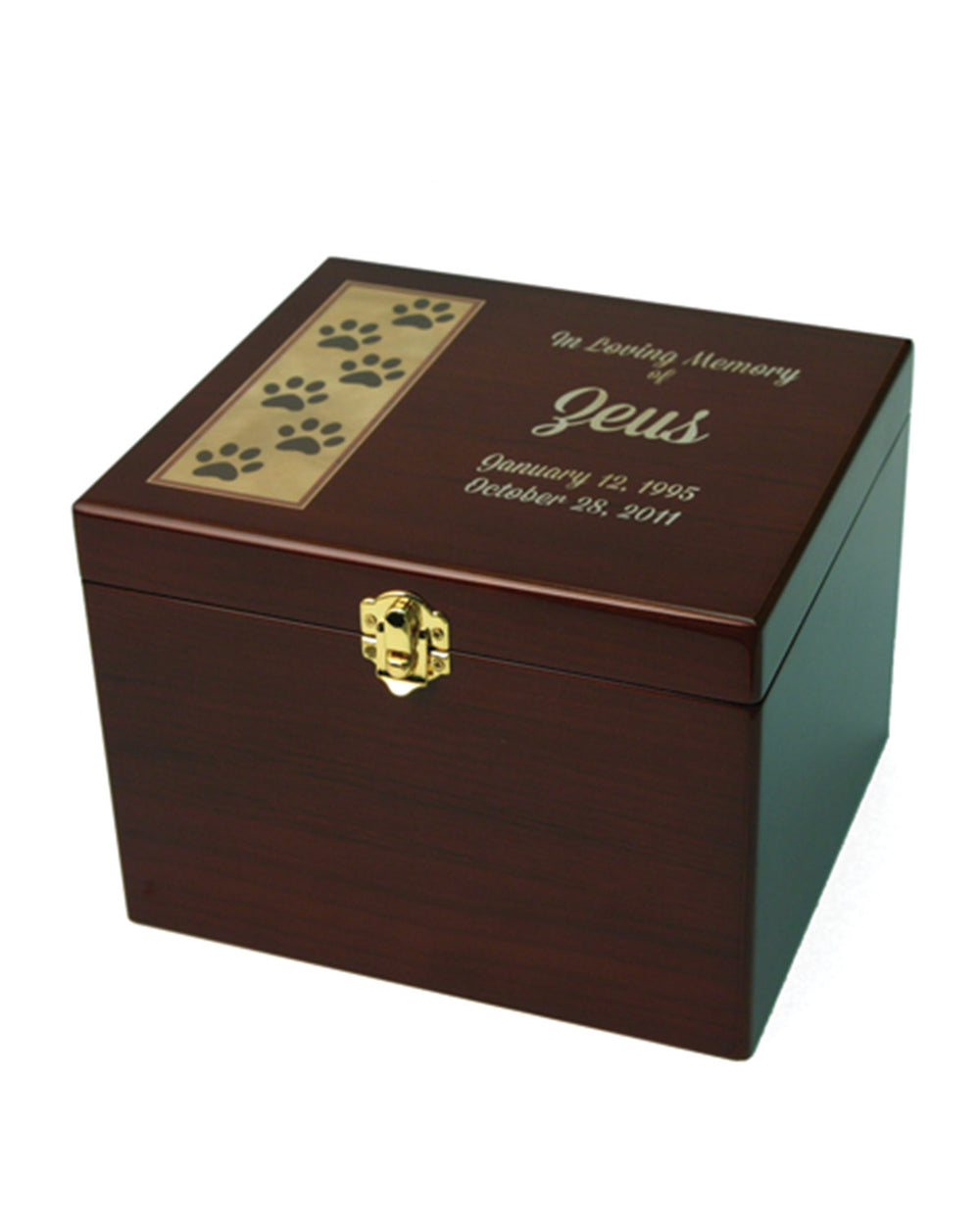 Paw Print Memory Chest - Small