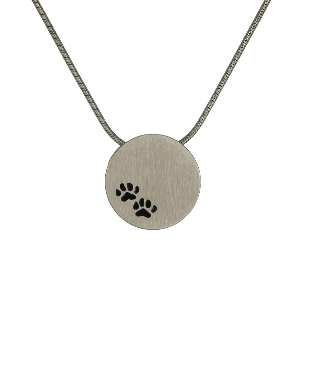 Disk Pendants - Pewter - Paw Prints