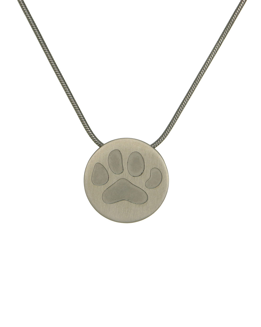 Disk Pendants - Pewter - Paw