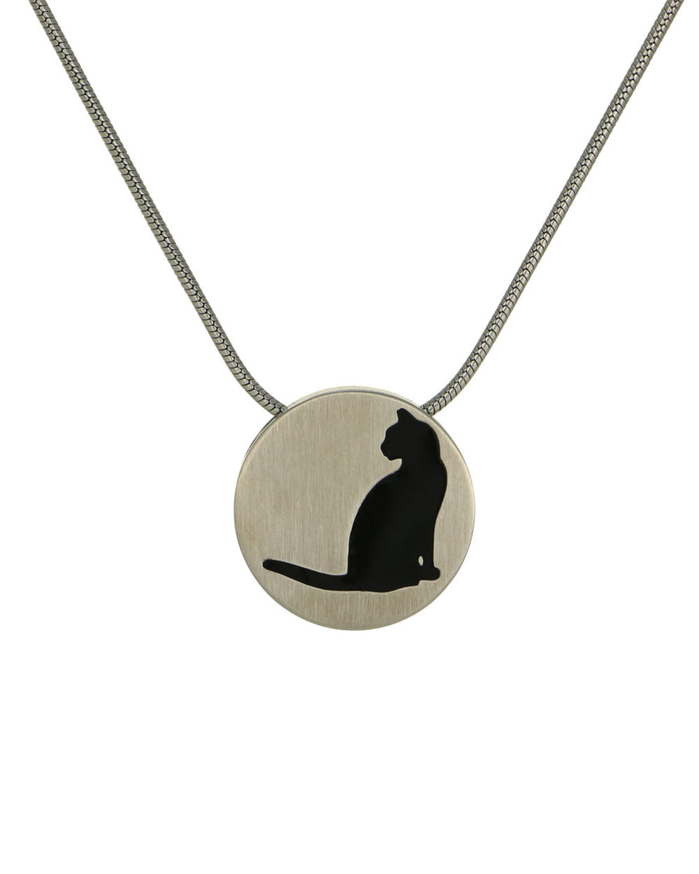 Disk Pendants - Pewter - Cat
