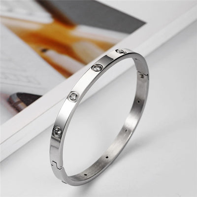 Carry Crystal Bangle Bracelet