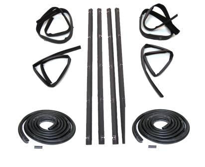 KD1001-10 Dodge 1972-1979 Fullsize Pickup, Ramcharger Belt Channel Seal Kit Inner & Outer DS & PS - Weather Strip Depot