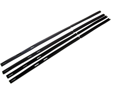 KD1017A Jeep 1974-1991 Wagoneer, Grand Wagoneer SJ Glass Run Kit, Front & Rear DS & PS - Weather Strip Depot