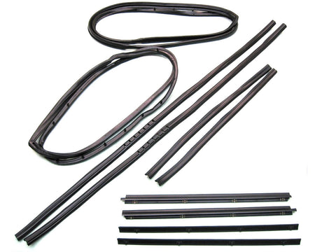 KD2010 Jeep 1976-1986 CJ7, CJ8 Scrambler Belt Channel Seal Kit with Movable Vent - Weather Strip Depot