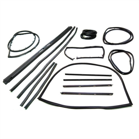 KD4001 Jeep 1976-1986 CJ5, CJ7, CJ8 Weatherstrip Kit with Movable Vent. - Weather Strip Depot