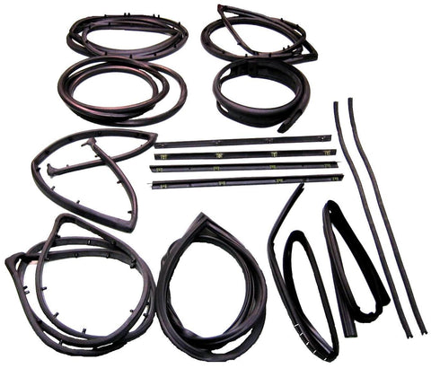 KD4006 Jeep 1976-1986 CJ5, CJ7, CJ8 Scrambler Weatherstrip Kit with Stationary Vent - Weather Strip Depot