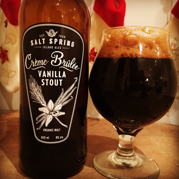 New and Unique: Salt Spring Island Ales' Creme Brûlée Vanilla Stout