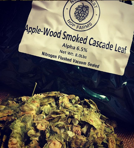 2019 Apple Wood Smoked Cascade Leaf Hops
