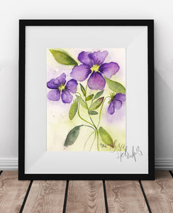 Floral Art in Watercolor