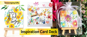 Inspiration Card Deck with Easel