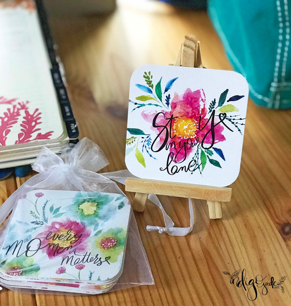 Inspiration Card Deck + Easel