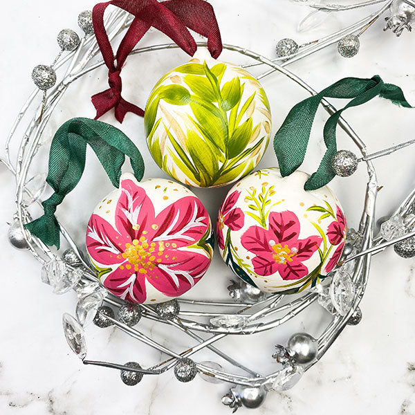 Ceramic Bitty Baubles Ball Ornaments
