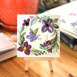 Sew Floral Mini Easel Decor