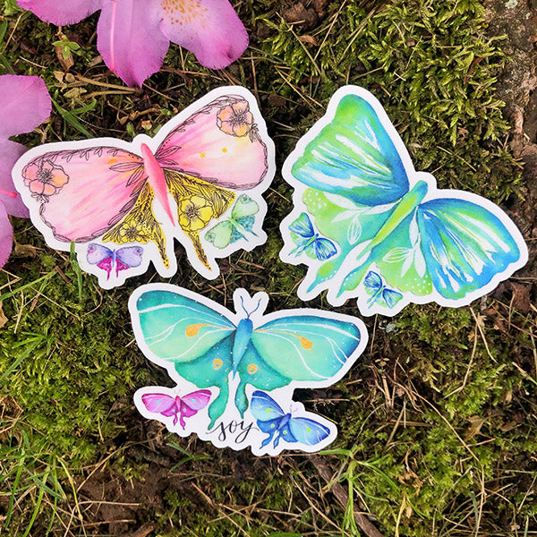 Flutters Die Cut Sticker Bundle