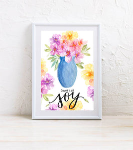 Mini Art Print: Count it all Joy