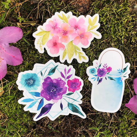 Flowers Die Cut Sticker Bundle