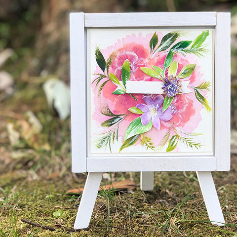 Blossoms + Blooms Easel Decor