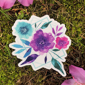 Floral Spray Die Cut Sticker