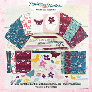 Flowers and Flutters Card Kit Collection
