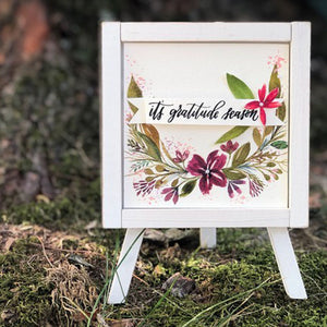 Gratitude Season Easel Decor