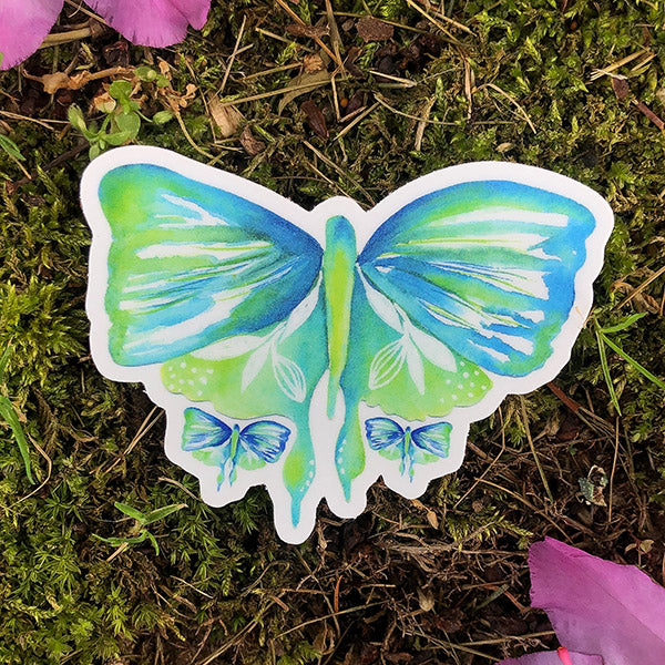 Serenity Flutter Die Cut Sticker