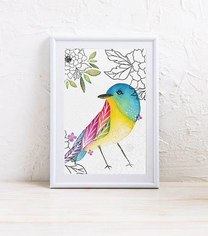 Mini Art Print: Hello Birdie