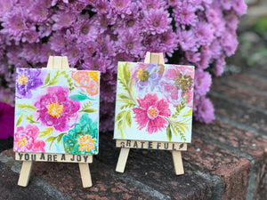 Mini Easel Art: Blooms of Joy