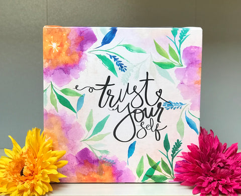 Inspirational Canvas Art: Trust Yourself