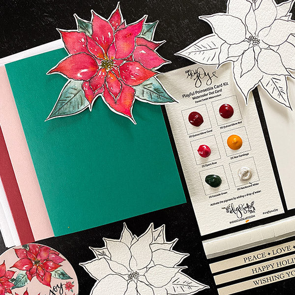Playful Poinsettia Card Kit
