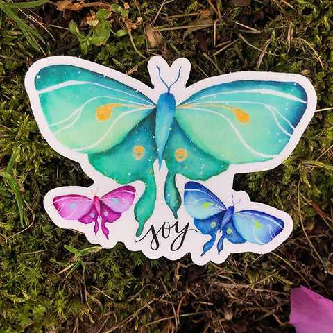 JOY Luna Moth Die Cut Sticker