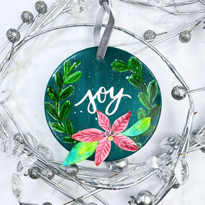 Ceramic JOY Round Ornament